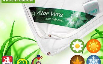 Přikrývka Aloe Vera 4 roční období spínací Velikost: 135x220 cm (prodlouženáí)