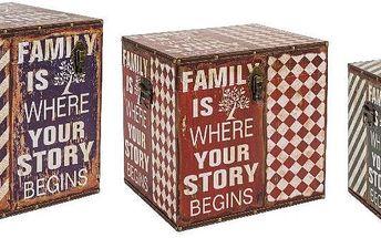 Set 3 truhel Family Story - doprava zdarma!