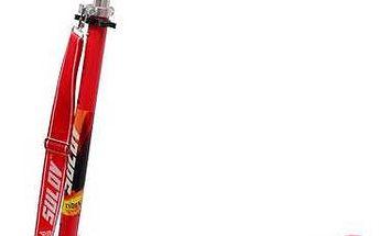 Koloběžka Sulov skládací Devil Rider černá/červená + Reflexní sada 2 SportTeam (pásek, přívěsek, samolepky) - zelené v hodnotě 58 Kč + Doprava zdarma