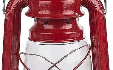 Petrolejová lucerna 25 cm, červená