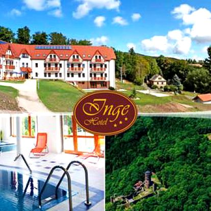 Hotel Inge*** u hradu Hasištejn s polopenzí, wellness a bowlingem