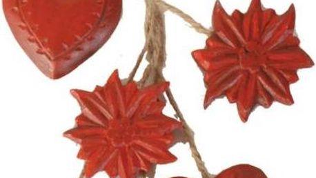 Závěsná dekorace Garland Hearts
