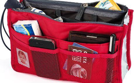 Organizér do kabelky červená