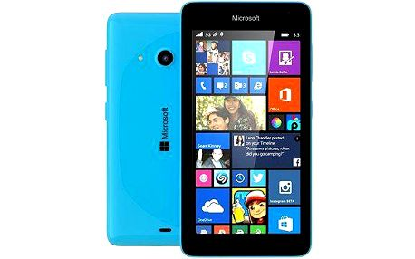 Mobilní telefon Microsoft Lumia 535 Dual Sim, azurový + 200 Kč za registraci + dodatečná sleva 35 %