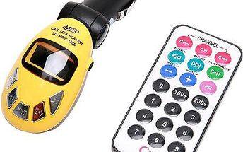 MP3 FM transmitter s dálkovým ovládáním na flashku a SD kartu - na výběr z 5 barev