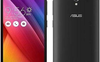 Asus ZenFone GO ZC500TG (ZC500TG-1A045WW) černý + dárek Voucher na skin Skinzone pro Mobil CZ+ dárek SIM s kreditem T-mobile 200Kč Twist Online Internet (zdarma) + Doprava zdarma