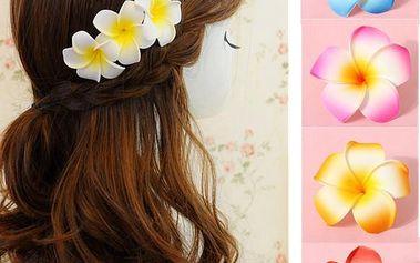 Květina do vlasů v různých barvách - bílá - skladovka