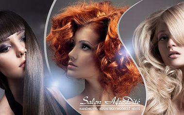 Dámský kadeřnický balíček pro všechny délky vlasů! Střih, mytí, foukaná, styling i barva nebo melír v Hradci.
