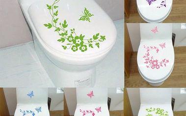 Samolepka na záchodové prkénko s motýlky
