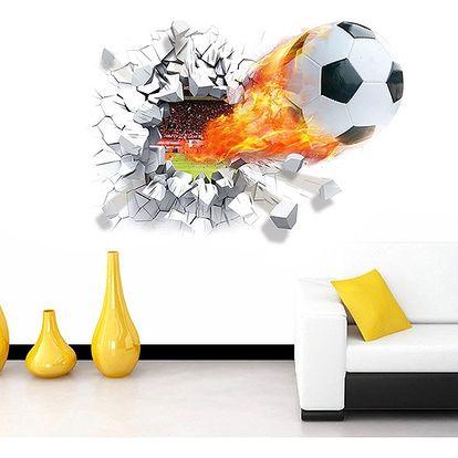 3D samolepka pro fotbalové fanoušky - dodání do 2 dnů