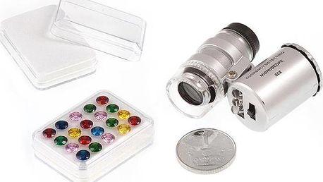 Krabička na drahokamy nebo kapesní mikroskop se světlem