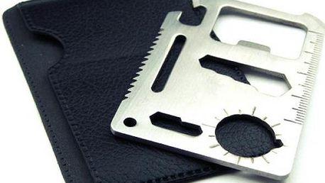 Multifunkční karta přežití 11 v 1 s pouzdrem - poštovné zdarma