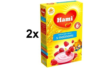 Hami rýžová s malinami 6M, 225g x 2ks