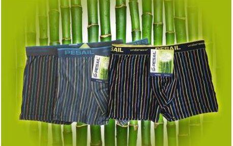 DOPRODEJ!! Tři kvalitní pánské boxerky z bambusového vlákna mají skvělé termoregulační vlastnosti, odvádějí vlhkost, jsou maximálně pohodlné a navíc mají antibakteriální vlastnosti!