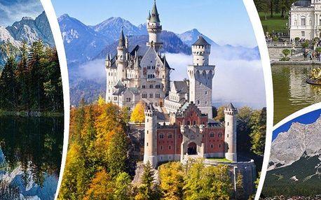 Zájezd do Bavorska. Zámek Neuschwanstein a Linderhof, jezera, Alpsee a Eibsee. Sobotní termíny.