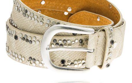 Dámský pásek motiv hadí kůže s kaminky
