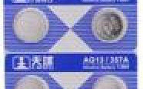 10ks Alkalická knoflíková baterie AG13/LR44/357
