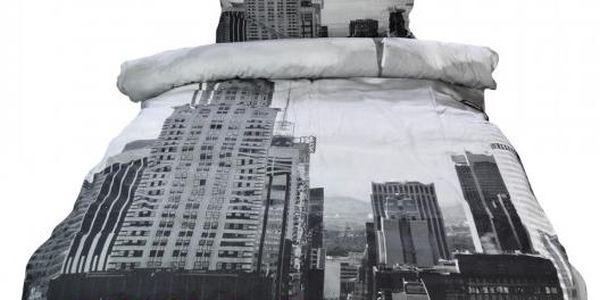 NOVIA Povlečení Exklusiv, New York s 3D efektem, bavlna, 2 dílné, 140x200 70x90