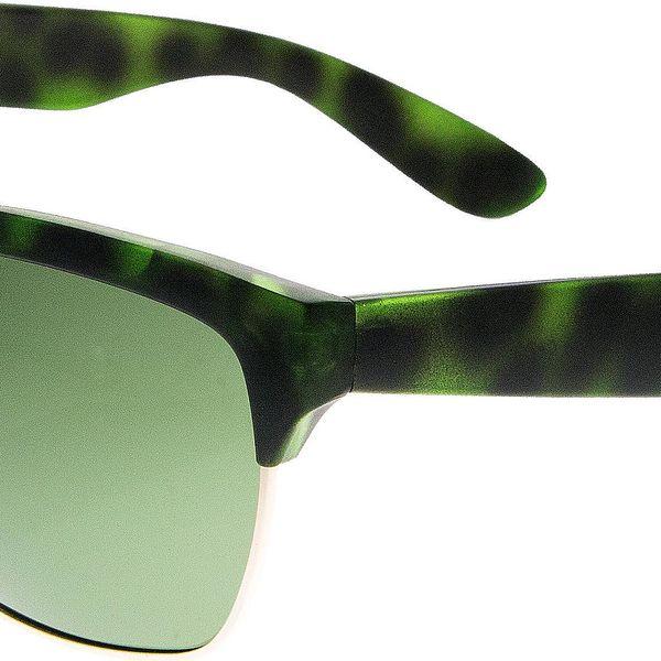Fashion Icon Sluneční brýle Retro Clubmaster unisex zelené