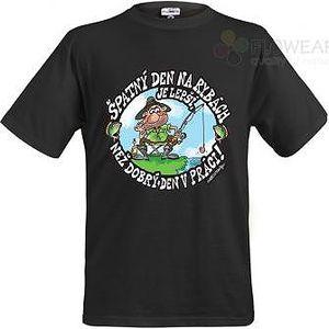 Tričko - Špatný den na rybách - černé - XL