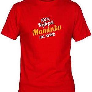 Tričko - Nejlepší maminka - červené - L