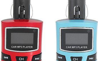 MP3 USB/SD transmitter do auta - 2 barvy