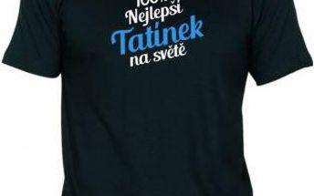 Tričko - Nejlepší tatínek - černé - XXL