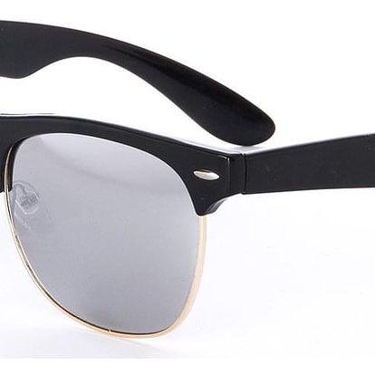 Sluneční brýle Retro Clubmaster unisex černé