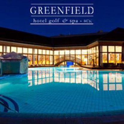 All inclusive pobyt s neomezeným wellness v saunovém a Spa světě o rozloze 3 500 m2 a ubytováním v Greenfield Hotelu Golf&Spa
