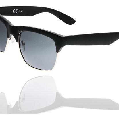 Fashion Icon Sluneční brýle Retro Clubmaster unisex černé