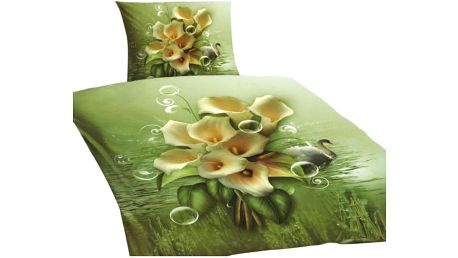 NOVIA Povlečení Standard s 3D efektem, Kala, bavlna, 2 dílné, 140x200 70x90