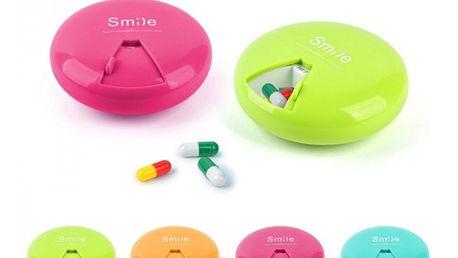 Kulatá krabička na léky - 7 přihrádek