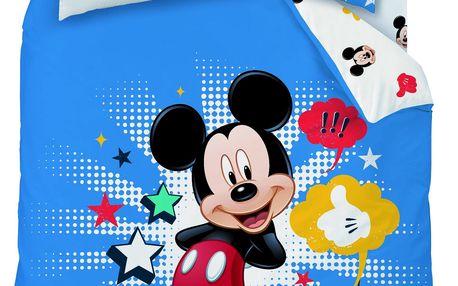 CTI Povlečení Mickey Star bavlna 140x200, 70x90 cm