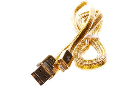 Remax Safe and Speed 1m datový kabel Lightning pro iPhone 5/5S/6 zlatý