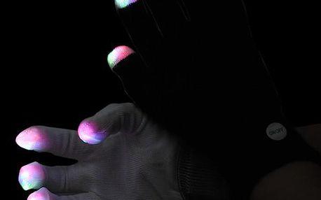 Rukavice se svítícími konečky prstů