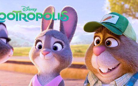 Dvě vstupenky na rodinný animák Zootropolis