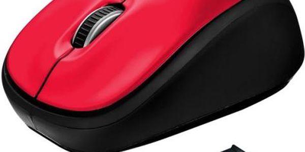 Myš Trust Yvi Wireless (19522) červená / optická / 3 tlačítka / 1600dpi