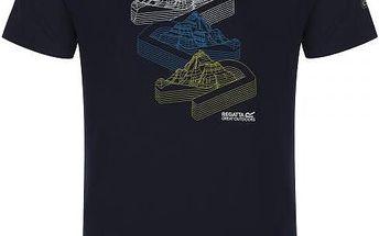 Pánské tričko Regatta RMT106 FINGAL Navy