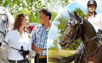 Projížďa na koni v délce 45 minut pro 1 nebo 2 osoby do krásné přírody u Zásmuk nedaleko Prahy