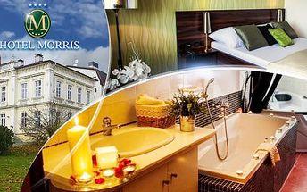 Levandulový wellness pobyt na 3 dny s polopenzí pro dva + vířivka a balneo procedury v hotelu Morris**** Nový Bor!