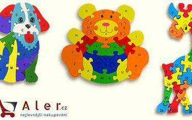 Dřevěné puzzle pro děti