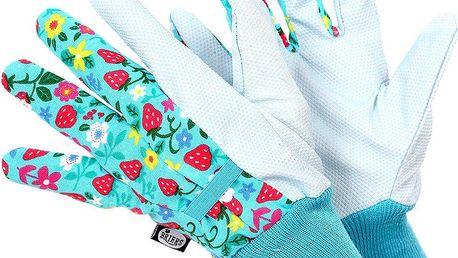 Zahradní voděodolné rukavice Strawberry