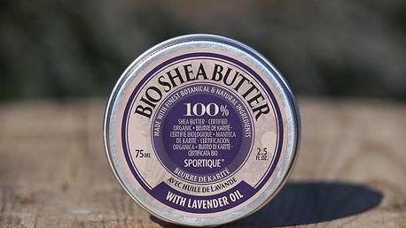 Bio bambucké máslo Sportique Wellness Levandule 75 ml - SLEVA blížící se datum spotřeby