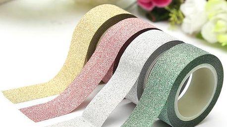 Dekorační lepící páska třpytivá - 4 barvy