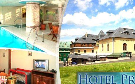 Dovolená v 3*hotelu Praha Boží Dar s polopenzí, bazén s vířivkou, hodina sauny, živá hudba aj.