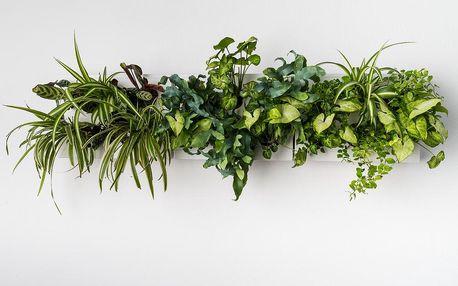 Vertikální květináč HOH! s neviditelným stojanem Trio Smart Bianco, 83x38 cm - doprava zdarma!