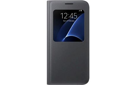 Pouzdro na mobil flipové Samsung pro Galaxy S7 (EF-CG930P) (EF-CG930PBEGWW) černé
