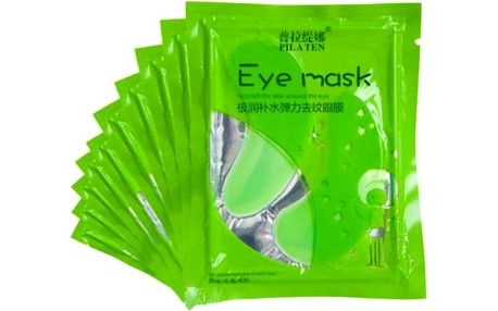 Bylinné kolagenové oční masky Aloe Vera - SLEVA blížící se datum spotřeby