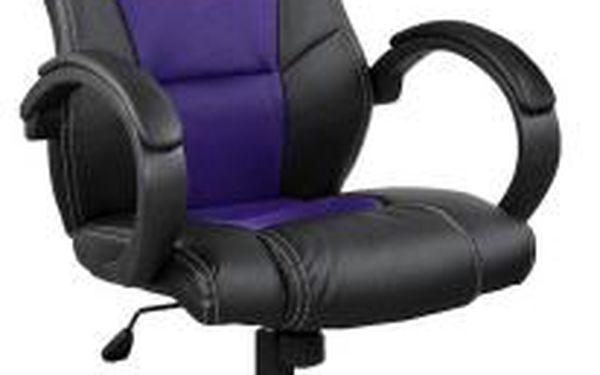 Otočná kancelářská židle fialovo-černá MX Racer