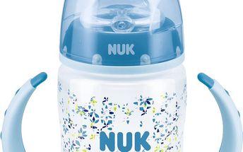 NUK modrá FC lahvička na učení PP 150ml, silikonové pítko